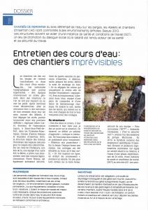 Entretien des cours d'eau : des chantiers imprévisibles